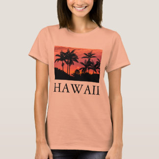 Silhouetted palm trees, Hawaii T-Shirt