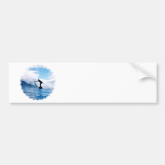 Silhouetted Surfer  Bumper Stickers