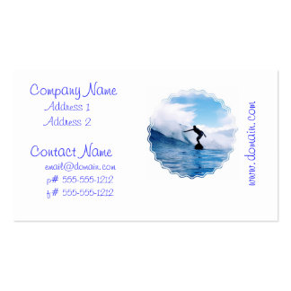 Silhouetted Surfer Business Cards