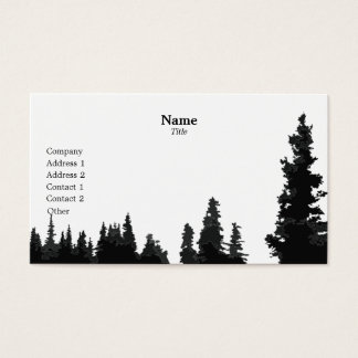 Silhouetted Trees Business Cards