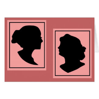 Silhouettes 4 note card