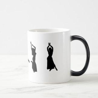 Silhouettes of Belly Dancers Magic Mug