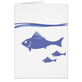 Silhouettes of Fish Card