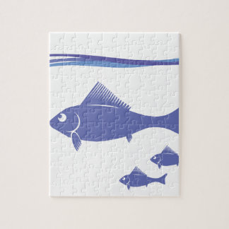 Silhouettes of Fish Jigsaw Puzzle