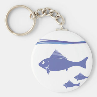 Silhouettes of Fish Keychain