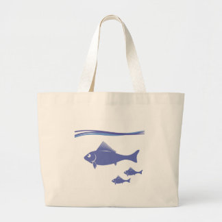 Silhouettes of Fish Large Tote Bag