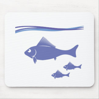 Silhouettes of Fish Mouse Pad