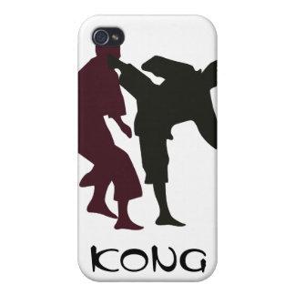 Silhouettes of Martial Artists During a Fight iPhone 4/4S Covers