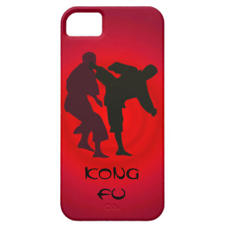 Silhouettes of Martial Artists During a Fight iPhone 5 Case