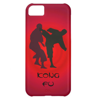 Silhouettes of Martial Artists During a Fight iPhone 5C Covers