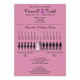 Silhouettes simples épousant le programme carton d'invitation  12,7 cm x 17,78 cm