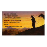 SILHOUETTES w/ WESTERN SKY SUNSET BUSINESS CARDS!
