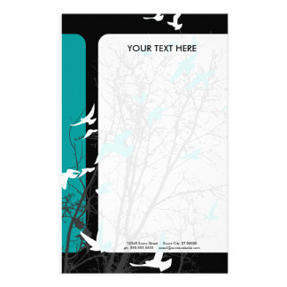 silhouscreen birds custom stationery
