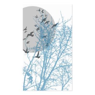 silhouscreen les oiseaux carte de visite standard