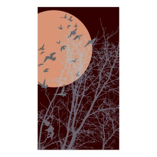 silhouscreen les oiseaux modèle de carte de visite