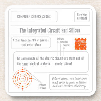 Silicon and Integrated Circuits Beverage Coasters