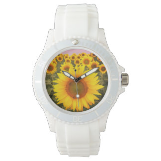 Silicon Fashion Sunflower Watch