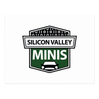 Silicon Valley Minis - green logo postcard