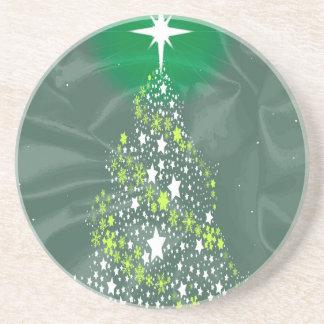 Silk Christmas Tree Beverage Coaster