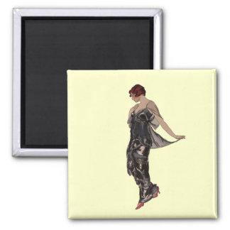 Silk Evening dress 1914 Square Magnet