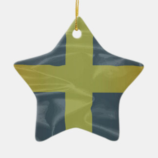 Silk Flag of Saint David Of Wales Ceramic Star Ornament