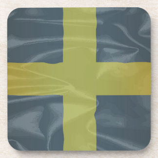 Silk Flag of Saint David Of Wales Drink Coasters