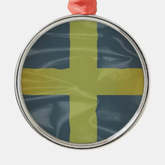 Silk Flag of Saint David Of Wales Silver-Colored Round Ornament