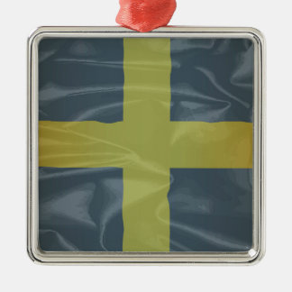 Silk Flag of Saint David Of Wales Silver-Colored Square Ornament