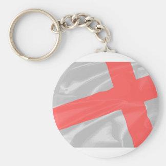 Silk Flag of Saint George Basic Round Button Keychain