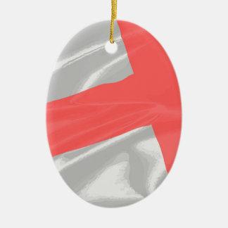 Silk Flag of Saint George Ceramic Ornament