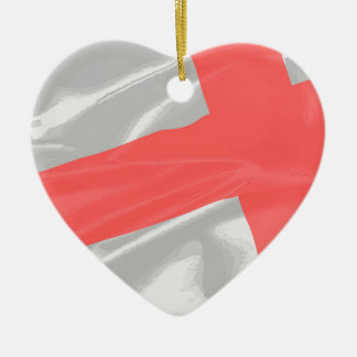 Silk Flag of Saint George Ceramic Ornament