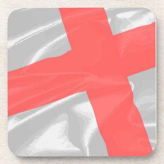 Silk Flag of Saint George Drink Coaster