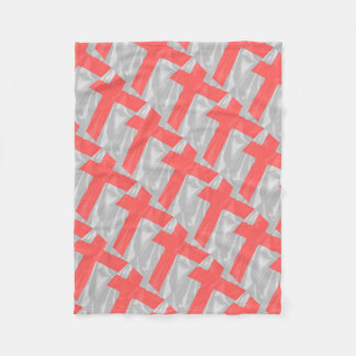 Silk Flag of Saint George Fleece Blanket