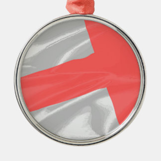 Silk Flag of Saint George Metal Ornament