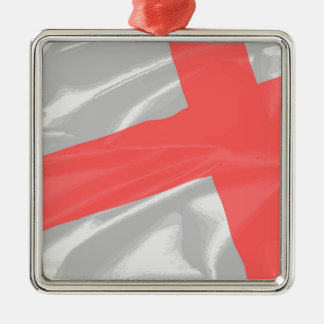 Silk Flag of Saint George Metal Ornament