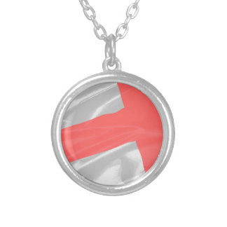 Silk Flag of Saint George Silver Plated Necklace