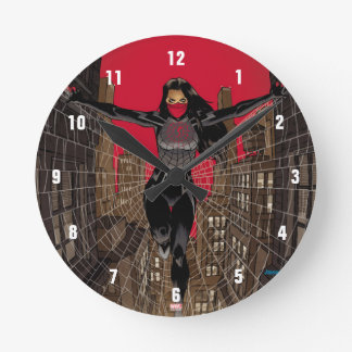 Silk In Web Round Clock
