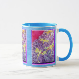 Silk Painted Dragonfly Mug