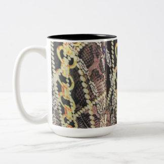 Silk, Pearls and Chains Print Two-Tone Coffee Mug