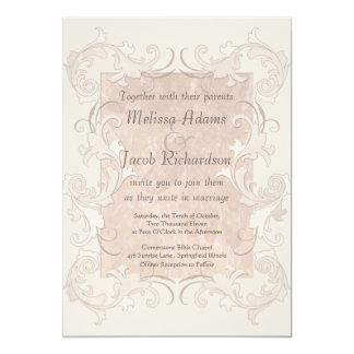 Silk Romance Elegant Wedding Card