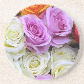 silk roses drink coasters