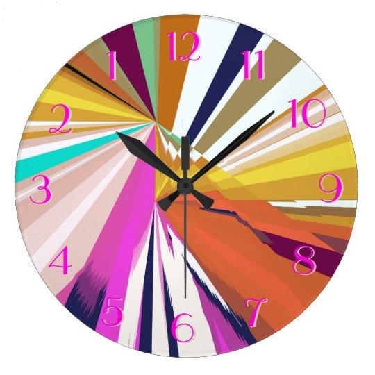 Silk Scarves Look Backwards Clock Multi-Colour