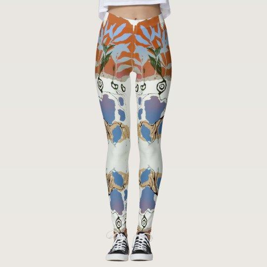 Silk Screen Garden Skinny Stretch Yoga Leggings