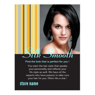 Silk smooth hair postcard