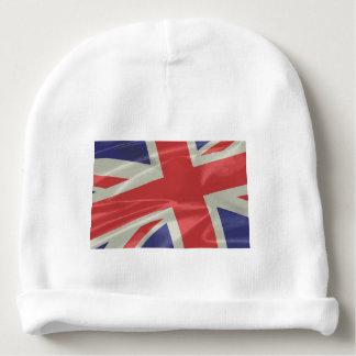 Silk Union Jack Flag Closeup Baby Beanie