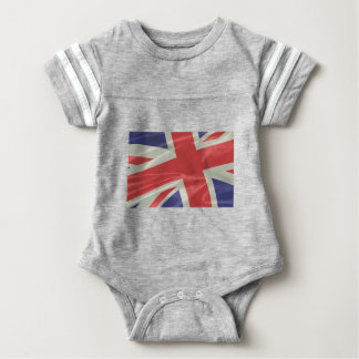 Silk Union Jack Flag Closeup Baby Bodysuit