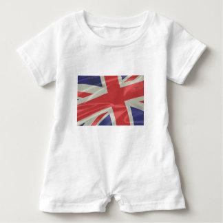 Silk Union Jack Flag Closeup Baby Romper