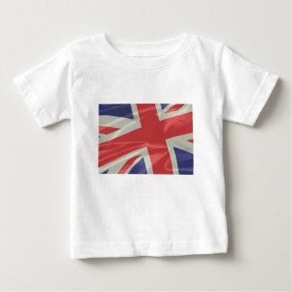 Silk Union Jack Flag Closeup Baby T-Shirt