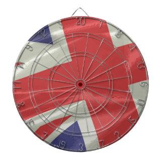 Silk Union Jack Flag Closeup Dartboard