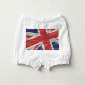 Silk Union Jack Flag Closeup Diaper Cover